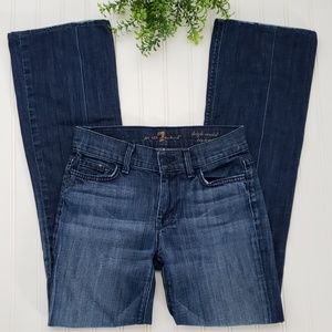 7 For All Mankind High Rise Bootcut Jeans sz 25